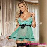Factory Price Offer Copyright Pictures Wholesale Green Cute Sexy Dress Babydoll