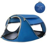 Large Pop up Backpacking Camping Hiking Tent Automatic Instant Setup Easy Fold Back Shelter Travelling Beach Shelter with Anti-UV Coating for 2-3 Person