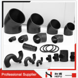 Wholesale Black Polyethylene Plastic Plumbing Pipe Fittings for Drainage