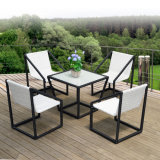 Outdoor PE Rattan / Wicker Square Coffee Shop Tables and Chairs (Z393)