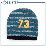 Bespoke Unfolded Printing Knit Beanie Hat for Man