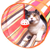 Folding Cat Tunnel with Playing Ball