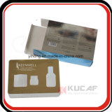 UV Printing Silver/ Gold Carboard Packaging Box with Window