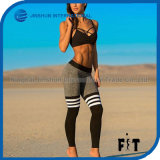 Fashion Leggings Sport Fitness Split Color Block Women Pants