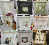Decoration Carved Flower Marble Custom-Made Fireplace