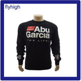 High Quality Round Neck Slim Fit Embroidered Black Custom Sweater