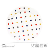 Ceramic Colorful Decal Dots Design Plate