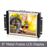 "Customized 8"" Metal Frame LCD Display with VGA/HDMI/AV Input"