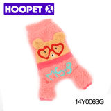Cute Pink Warm Personalized Dog Clothes