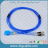Sc-FC Sm Duplex Armored Fiber Optic Patch Cord