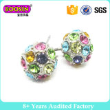 Fashion Jewelry Stud Earrings with Colorful Stone
