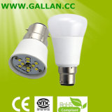 High Quality Aluminum and Plastics 3W 5W 7W 9W LED Bulb Light E27/B22 with 180 Degree Beam Angle