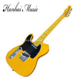 Hanhai Music / Left-Hand Electric Guitar with Ancient Yellow Body