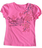 Flower Cute Girl Children′s T-Shirt in Kids Wear Clothing Sgt-086
