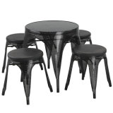 Popular Restaurant Dining Metal Tolix Table and Chair (FS-D515 SET)