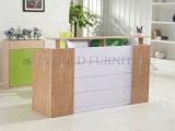Curved Reception Desk Shop Cash Counter Table Design (SZ-RTT004)