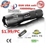 Rechargeable Aluminium CREE Xm-L T6 LED Flashlight