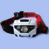 3xaaa Battery LED Ipx7 Waterproof Head Light with Logo Printed (4000)
