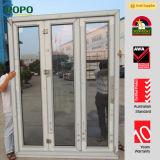 Rehau Brand PVC Profile Folding Door with Double Glass