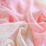 Polyester Jacquard Chiffon Fabric for Lady Dress and Shirt Cloth