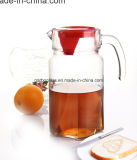 1.8L Glass Tea Kettle with Red Cover