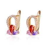 Newest Design Fashion Jewelry Gold Plated Copper Zircon Earrings