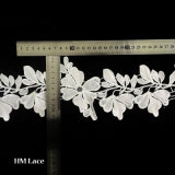 Guipure Embroidery Water Soluble Polyester Lace Trim with Bilateral Leaves L139