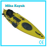 Plastic Fishing Kayak Ocean Pedal Boat Sit on Top Canoe with Rudder