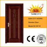 Latest Design Indonesia Solid Wooden Door (SC-W116)