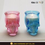 Wholesale Colorful Skull Glass Candle Holder