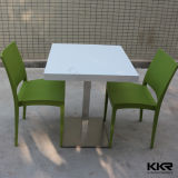 2 Seater Man Made Stone Square Dining Table