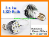 High Brightness E27 LED Bulb with IEC 62560