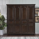 Antique Design Bedroom Furniture Wooden Wardrobe (GSP9-019)