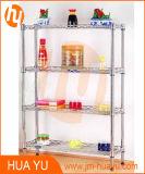 Chrome Finish Display Shelf for Storage or Decoration
