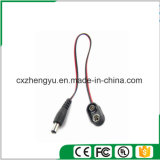 9V Battery Male Plug (5.5mmx2.1mm) to Snaps