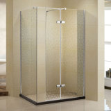 Walk-in Style Shower Cabin with Chrome-Coated Brass (K-W10)