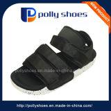 New Design Fabric Men Sandals PU Black Sandal
