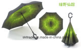 Hot Selling High Quality Portable Handsfree Straight Reverse Inverted Umbrella