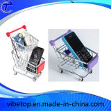 Desktop Storage Folding Mini Shopping Trolley Cart with Wheels