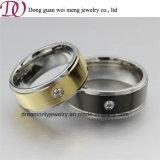 CNC Machine Ring Gold Black Color Wedding Ring