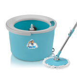 Easy Wring Kitchen Mop 1000rpm Telescoping Mop with Microfiber Cloth + Bucket