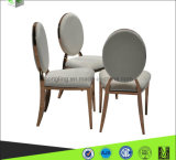Luxury Design White Fabric Banquet Metal Dining Chair