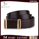Fashion Custom Brand Logo Export Genuine Cowhide Leather Metal Buckle Belts
