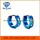 Blue Fashion Stainless Steel Glass Stone Earring