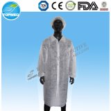 Disposable Nonwoven PP SMS Lab Coat for Hospital Medical