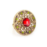 Fashion Finger Rings for Party Women Red Store Hollow out Round Design Vintage Ring Jewelry
