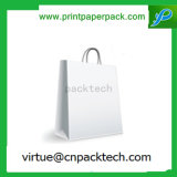 Recycle Custom Flat Handle Paper Carrier Bag with Logo Printing