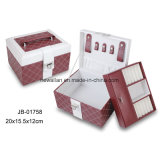 Sweet Red Leather Portable Jewelry Box