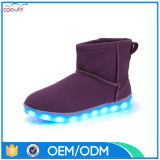Fashion Comfort Low Heels Women LED Snow Boots for Ladies