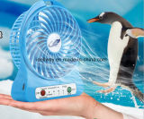 Mini USB Fan Portable Electric Fans LED Desktop Fan Cooling Air Conditioner Fan with Rechargeable Battery Power Bank Function